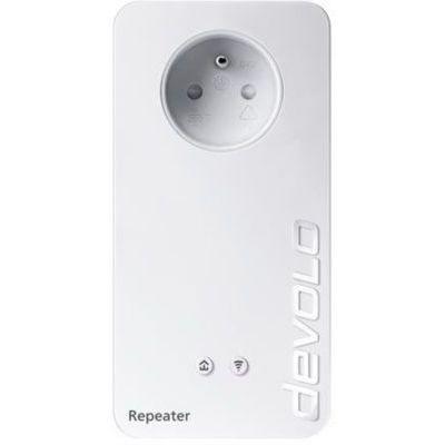 image devolo Répéteur WiFi+ ac : Amplificateur WiFi avec prise intégrée, Internet rapide grâce au WiFi bi-bande, compatible avec toutes les box internet, (1200 Mbit/s, 2x ports Ethernet, mode Access Point)