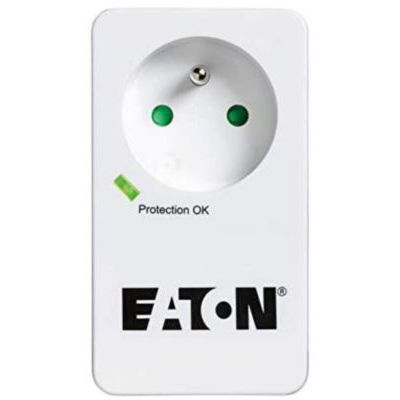 image Eaton Multiprise/Parafoudre - Eaton Protection Box 1 FR - PB1F - 1 prise FR - Blanc & Noir