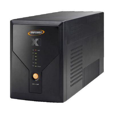 image Infosec X1 EX-1600 Onduleur 1600 VA 4 Prises Schuko/FR 6 Voyants Noir
