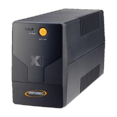 image Infosec X1 EX-500 Onduleur 500 VA 2 Prises Schuko/FR Noir