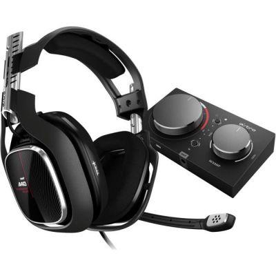 image ASTRO Gaming A40 TR Casque Gamer + MixAmp Pro TR, 4ème génération, ASTRO Audio V2, Dolby Audio, Micro Détachable, compatible avec Xbox Series X|S, Xbox One, PC, Mac - Noir/Rouge