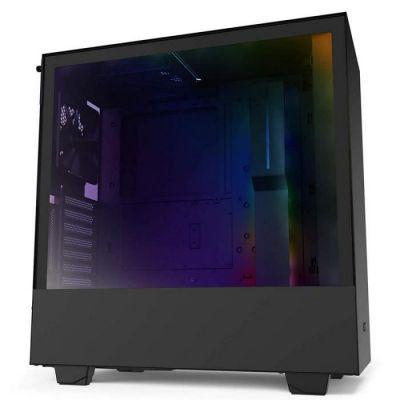 image NZXT H510i - Boîtier PC Gaming ATX Moyenne Tour Compact - Port I/O USB Type-C en Façade - Montage Vertical du Processeur Graphique ( GPU ) - Panneau Latéral en Verre Trempé - Noir