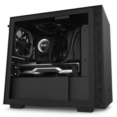image NZXT H210 - Boîtier PC Gaming Mini-ITX - Port I/O USB Type-C en Façade - Panneau Latéral en Verre Trempé - Compatible Refroidissement Liquide - Support pour Radiateur - Construction en Acier - Noir