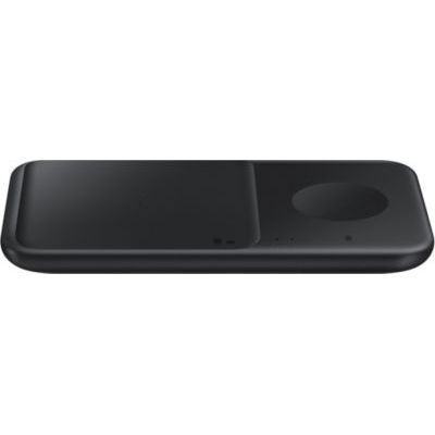 image Samsung EP-P4300TB Duo Chargeur sans Fil Duo avec Adaptateur, Noir