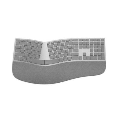 image Microsoft – Surface Ergonomic Keyboard – Clavier sans fil Bluetooth ergonomique compatible Windows et macOS (Clavier AZERTY français) – Gris (3RA-00004)