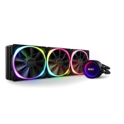 image NZXT Kraken X73 RGB 360 mm - RL-KRX73-R1 - Refroidisseur de liquide pour processeur AIO RGB - Pompe améliorée - Connecteur RGB - Ventilateurs de radiateur Aer RGB V2 120 mm (3 inclus)