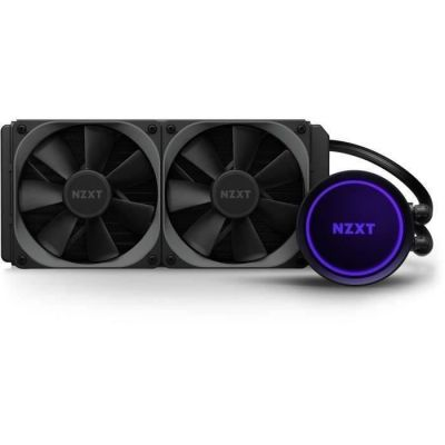 image NZXT Kraken X53 240mm - RL-KRX53-01 - Refroidisseur de liquide CPU AIO RGB - Conception de miroir infini rotatif - Alimenté par CAM V4 - Ventilateurs de radiateur Aer P 120mm (2 inclus)