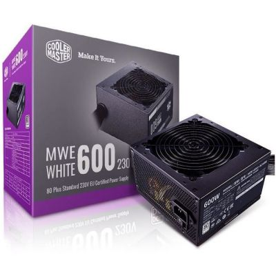 image Cooler Master MWE 600 White-V2, 600W 80 Plus Alimentation