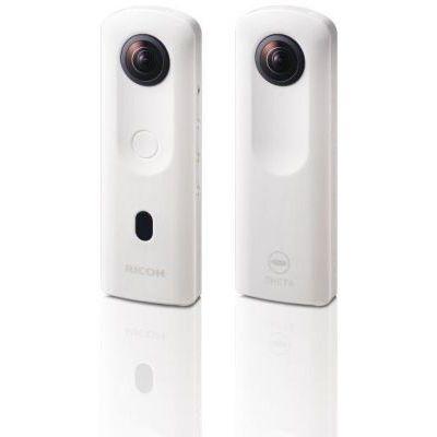 image RICOH Theta SC2 Blanc Camera 360° Video 4K avec Ricoh Housse pour Ricoh Theta Appareil Photo et vidéo à 360° - Noir