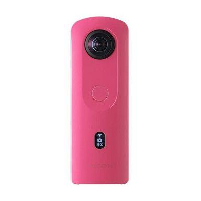 image RICOH THETA SC2 ROSE Camera 360° Video 4K avec stabilistation Haute résolution d'image transfert de données haute vitesse Capture d'image de nuit sans bruit Fin et léger pour iPhone, Android