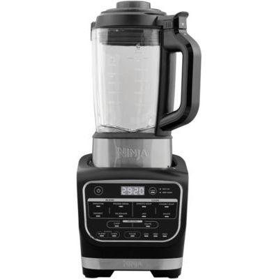image Ninja Blender & Soup Maker Cuiseur et mixeur à soupe [HB150EU] Auto-iQ , Élément Chauffant intégré, Verseuse en verre, Facile à nettoyer, 1,7 L, 1 000 W, Noir