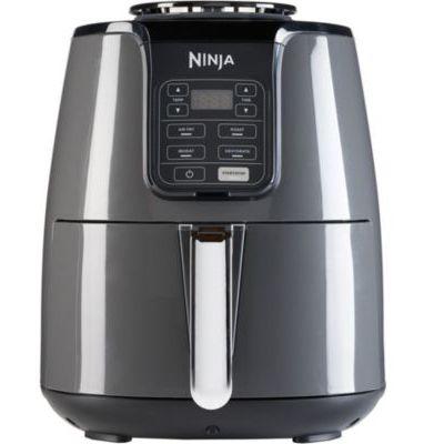 image Ninja Friteuse Air [AF100EU] 4 Modes de Cuisson, Air Fry, Rôtissoire, Réchauffage, Déshydratation, Céramique Anti-Adhésive, 4,4 L, 1550W, Gris/Noir