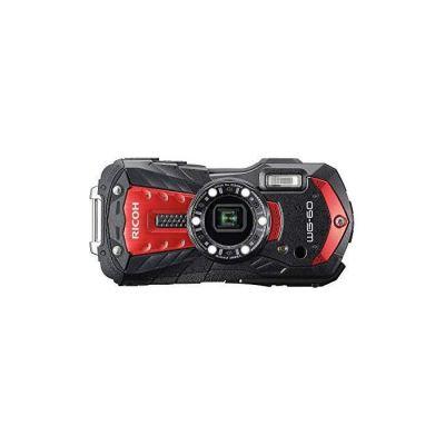 image RICOH WG-60 Rouge Compact 16 Mp, étanche 14mètres, résistant aux chocs (1, 60m), mode sous-marin avec éclairage LED (x6) pour la macro photographie