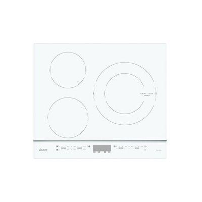 image Sauter SPI4360W - Plaque à induction - Encastrable - 3 Foyers - 7200W - L60 x P52cm - Revêtement verre - Blanc - Fabrication Française