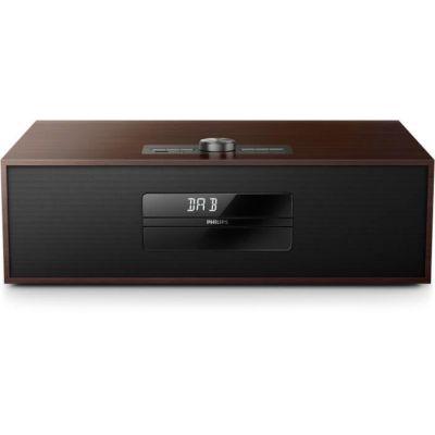 image Micro-chaéne Philips Dab+ BTB4800/12 Microchaéne Dab+ Radio Internet (Bluetooth, Dab+, Lecture CD, entrée Audio 3, 5-mm, 30 Watts) Marron foncé/Noir