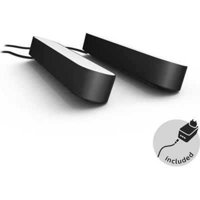 image Philips Hue Play Pack White & Color Ambiance X2 6,6 W - Noir & Dim Switch Télécommande nomade variateur de lumière