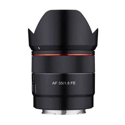 image Samyang AF 35 mm F1.8 Sony FE Tiny But All Around – Objectif Grand Angle autofocus Plein Format et APS-C avec Protection Contre Les intempéries et commutateur personnalisé pour Sony E Mount