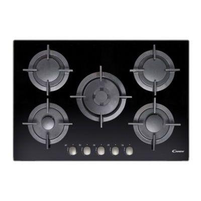 image Candy CVG75SWGNX Intégré Plan de cuisson à gaz noir, 5 feux, 745 x 510 x 45 mm, Noir