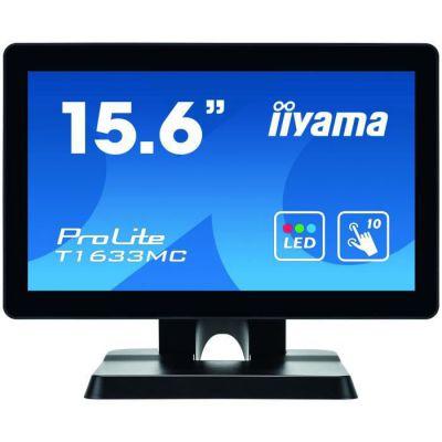 "image iiyama Prolite T1633MC-B1 - Écran LED - 15.6"" - écran Tactile - 1366 x 768 - TN - 300 CD/m² - 500:1-8 ms - HDMI, VGA, DisplayPort - Noir, Mat"