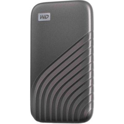image produit WD My Passport SSD 2 To - Disque SSD externe avec technologie NVMe, USB-C, vitesses de lecture jusqu'à 1050 Mo / s et vitesses d'écriture jusqu'à 1000 Mo / s - Gris sidéral - livrable en France