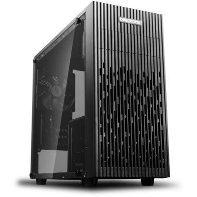 image DeepCool Matrexx 30 Boîtier Micro ATX USB 3.0 PC Desktop 0,5 mm SPCC Ventilateur de 120 mm Panneau latéral en Verre trempé (L x P x H) 379 x 406 x 195 mm, Noir