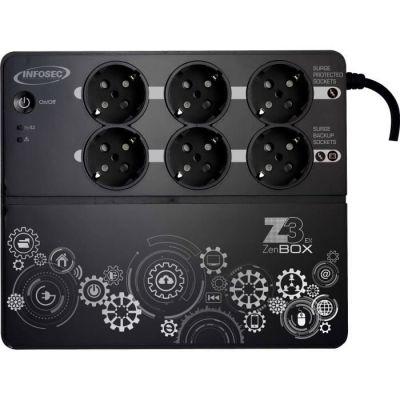 image Onduleur Z3 ZenBox EX 500 VA, 3 prises secourues, 3 prises protégées