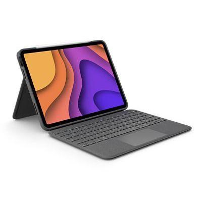image Logitech Folio Touch étui clavier pour iPad avec pavé tactile et Smart Connector, compatible avec l'iPad Air (4e gén.), Clavier AZERTY FR