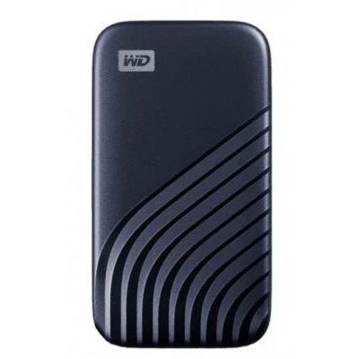 image WD My Passport SSD externe 2 To (NVMe, USB-C, 1050 Mo/s) - Bleu nuit