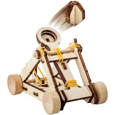 image produit Bandai - National Geographic - Les inventions De Vinci - kit pour construire une catapulte en bois sans outil - Jeu scientifique et éducatif - STEM - JM02493
