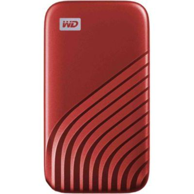 image WD My Passport SSD externe 2 To (NVMe, USB-C, 1050 Mo/s) - Rouge