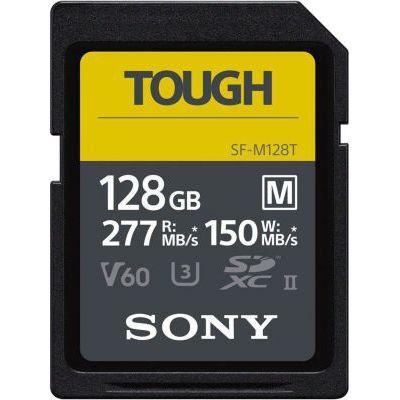 image Carte mémoire numérique Sony 128 Go SF-M série Tough UHS-II U3 V60 SDHXC - Lecture 277 Mo/s écriture 150 Mo/s SFM128T/T1