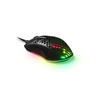 image SteelSeries Aerox 3 - Souris de gaming ultra-légère - Capteur optique à cœur TrueMove CPI 8 500- Conception ultra légère résistante à l'eau - Noir