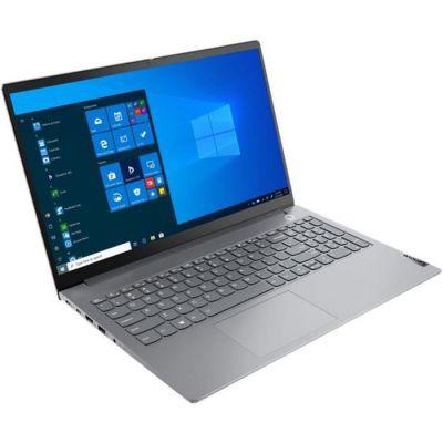 """image Lenovo ThinkBook 15 G2 ITL Ordinateur Portable 15,6"""" (Intel Core i3 11e gén, 8 Go RAM, 256 Go SSD, Windows 10 Pro, Gris) - Clavier AZERTY Rétroéclairé"""
