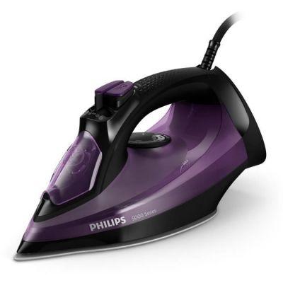 image Philips Fer Vapeur Série 5000 DST5030/80 - Violet, débit Vapeur 45 g/Min, Effet Pressing jusqu'à 180 g