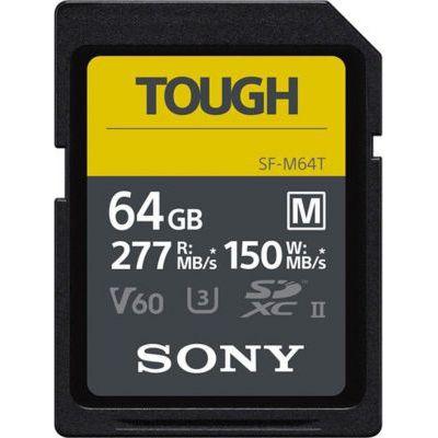 image Sony SF-M SFM64T - Carte mémoire SDHC UHS-II U3 V60 64 Go - Vitesse de Lecture 277 Mo/s ; Vitesse d'écriture 150 Mo/s
