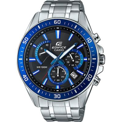 image Casio Edifice Homme Analogique Quartz Montre avec Bracelet en Acier Inoxydable EFR-552D-1A2VUEF
