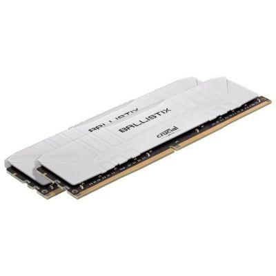 image Crucial Ballistix BL2K8G36C16U4W 3600 MHz, DDR4, DRAM, Mémoire Kit pour PC de Gamer, 16Go (8Go x2), CL16, Blanc