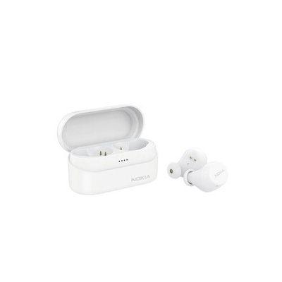 image Nokia BH-405 Écouteurs sans Fil Power Earbuds Lite, 35 Heures de Lecture, IPX7 étanche, Compatible Bluetooth, Boîtier de Charge sans fil Compact, Neiger Blanc