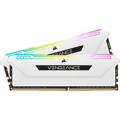 image Mémoire de bureau Corsair VENGEANCE RGB PRO SL 16 Go (2x8 Go) DDR4 3600 (PC4-28800) C18 1,35 V - Blanche
