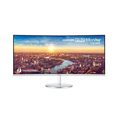 """image SAMSUNG C34J791WTR Ecran PC Incurvé, Dalle VA 34"""", Résolution UWQHD ultra-large (3,440 x 1,440), 100 Hz, 4ms, AMD FreeSync, Gris"""