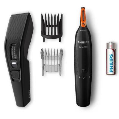 image Philips HC3510/85 HAIRCLIPPER Series 3000 Tondeuse à Cheveux rectangulaire Noir 0,5 mm 2,3 cm 4,1 cm, 1