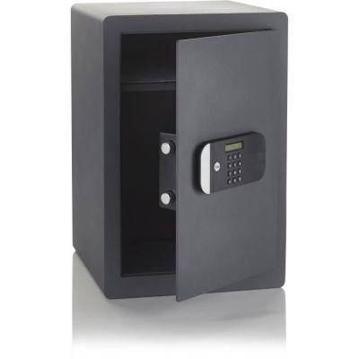 image Yale YSEM/520/EG1 Coffre-Fort Haute Sécurité à Serrure Electronique 100 000 Combinaisons (Certifié SKG), A Poser et Sceller   Format 52 x 35 x 36 cm (49,8L), Anthracite
