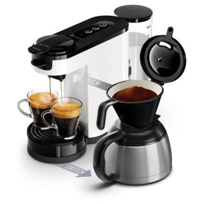 image Philips HD6592/01 Machine à café SENSEO Switch 2 en 1 Blanc (machine à dosettes + machine à café filtre)
