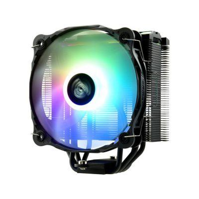 image ENERMAX Refroidisseur à air RGB Adressable Noir pour processeur Intel/AMD Ryzen, Ventilateur Silencieux 14 cm RGB Adressable