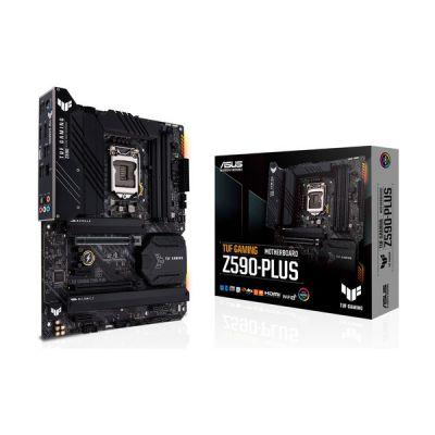 image ASUS TUF GAMING Z590-PLUS Carte mère Intel LGA 1200 ATX, 16 DrMOS, PCIe 4.0, 3xM.2 slots, DDR4 5133 OC, Intel 2.5Gb Ethernet, HDMI, DisplayPort, USB 3.2 Gen 2x2 Type-C, Thunderbolt 4, Aura Sync)