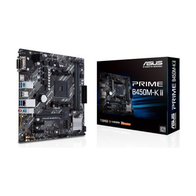 image ASUS Prime B450M-K II AMD B450 Emplacement AM4 Micro ATX