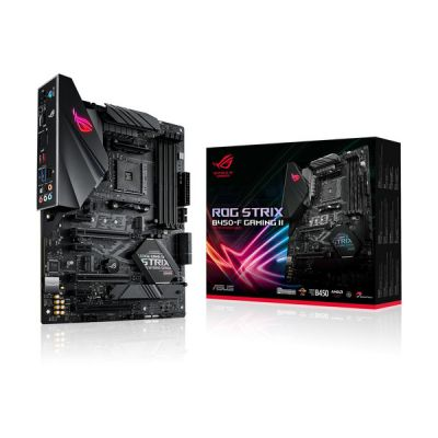 image ROG Strix B450-F Gaming II Carte mère AMD Ryzen AM4 ATX (DDR4 4400, AI Noise-Canceling Microphone, M.2, USB 3.2 Gen 2, SATA, Aura Sync)