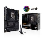 image produit ASUS TUF GAMING Z590-PLUS WIFI 6 Carte mère Intel LGA 1200 (16 DrMOS, PCIe 4.0, 3xM.2 slots, DDR4 5133 OC, Intel 2.5Gb Ethernet, HDMI, DisplayPort, USB 3.2 Gen 2x2 Type-C, Thunderbolt 4, Aura Sync) - livrable en France
