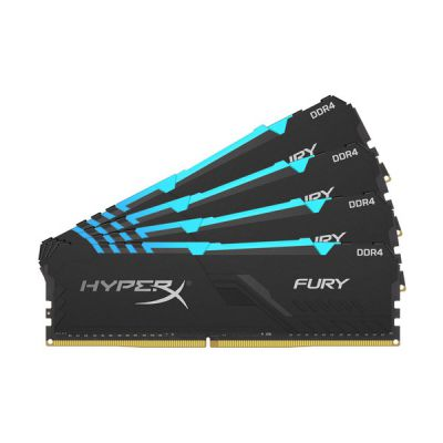 image HyperX FURY RGB HX432C16FB4AK4/64 Mémoire 64Go Kit*(4x16Go) 3200MHz DDR4 CL16 DIMM