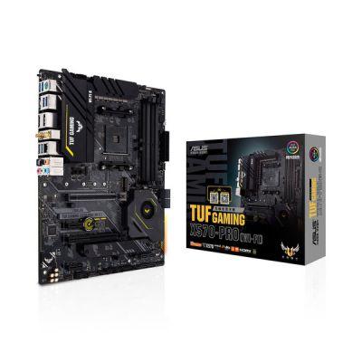 image ASUS TUF GAMING X570-PRO (WI-FI) Carte mère gaming AMD AM4 X570 ATX (PCIe 4.0, 2xM.2, LAN Intel 2.5G, Wi-Fi 6, 14 phases d'alimentation Dr. MOS, ports USB 3.2 Gen 2 Type-C, Aura Sync)